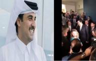 مشهد مؤثر تسابق الوفود للسلام على امير قطر تميم بعد اتمام كلمتة في الامم المتحدة